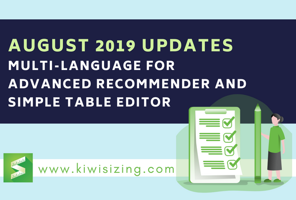 August 2019 Updates: multi-language for advanced recommender and simple table editor