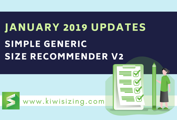 January 2019 Updates: Simple Generic Size Recommender V2