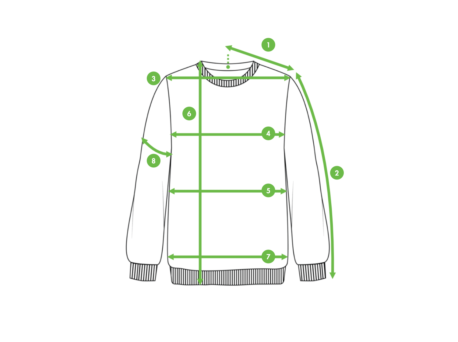 How To Measure A Sweatshirt - Kiwi Sizing - Improve conversion and lower returns.