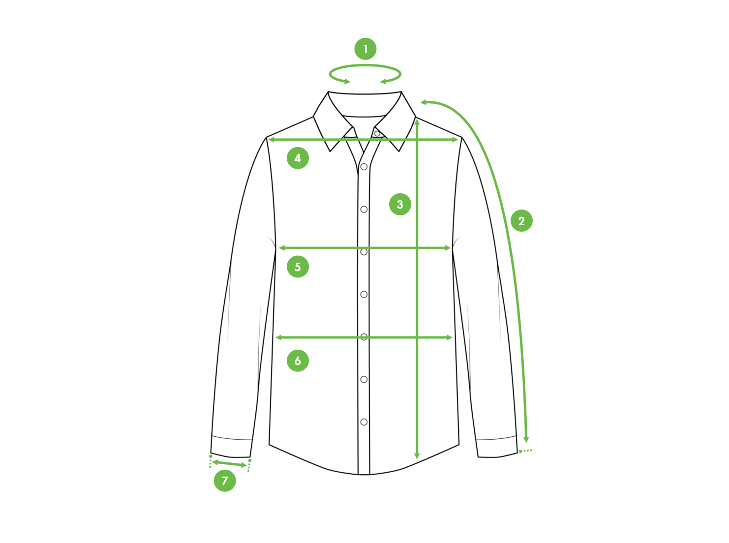 How to Measure a Dress shirt ? Kiwi Sizing - Improve conversion and lower returns.
